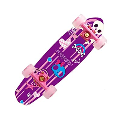 Aniseed Skateboards Stubby Cruiser Skateboard Complete/MS. Skeleton,27 : Sports & Outdoors