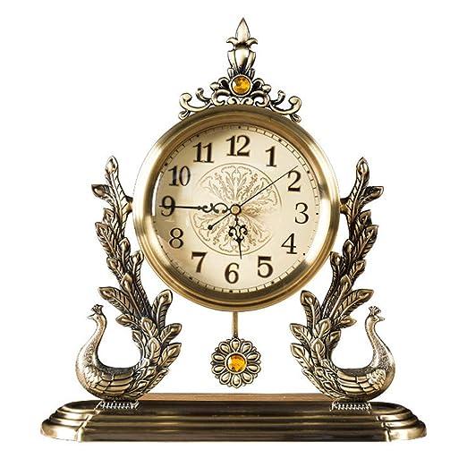 NHX Relojes de Mesa para el Dormitorio Retro Europeo turística ...