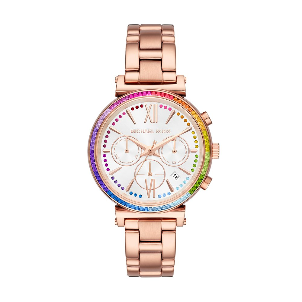 Amazon.com: Michael Kors Womens Sofie Quartz Stainless-Steel Strap, Rose Gold, 16 Casual Watch (Model: MK6577: Watches