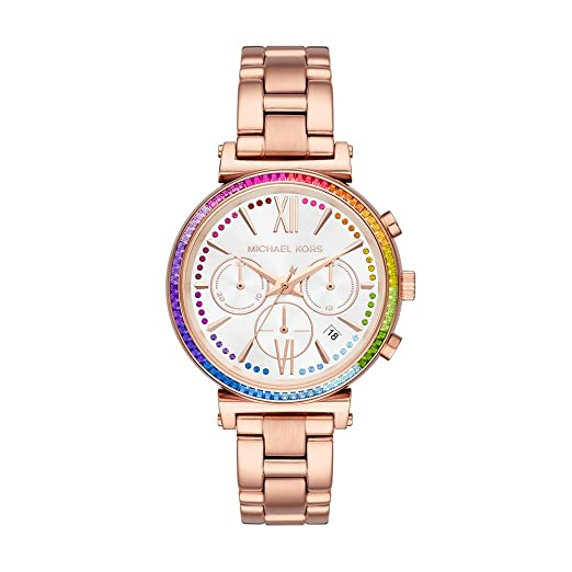 Amazon.com: Michael Kors Womens Sofie Quartz Stainless Steel Casual Watch, Color:Rose Gold-Toned (Model: MK6577): Watches