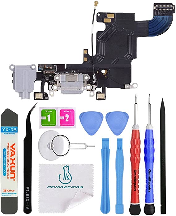 for Apple iPhone 8 with Tool Kit Flex Cable Charge Port, Mic, Antenna CDMA /& GSM Light Gray