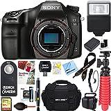 Sony ILCA68/B a68 A-Mount 24.2MP Digital Camera Body (Black) + 64GB Deluxe Accessory Bundle (Camera Body Deluxe Kit)