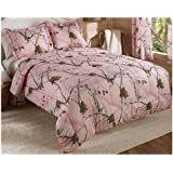 Real Tree AP Mini Comforter Set, Queen, Pink, Camo