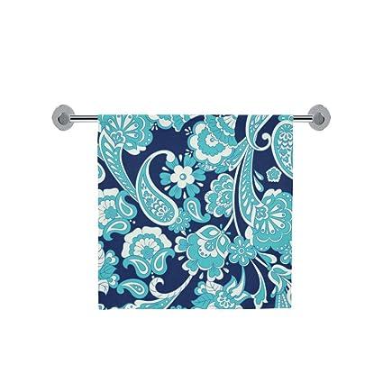 Amor naturaleza personalizada, Diseño de flores sin fisuras patrón baño cuerpo ducha toalla de baño Wrap ...