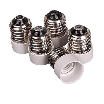 5 stücke E27 zu E14 Basis LED Licht Lampe Adapter Konverter Schraube Buchse