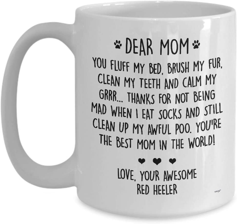 RED HEELER MAMA RED HEELER MUG RED HEELER MOM COFFEE MUG CATTLE DOG MUG