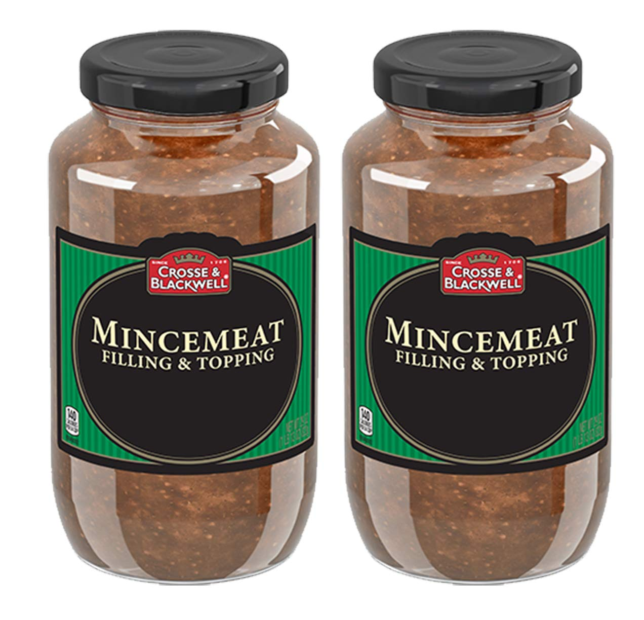 Cross & Blackwell Mincemeat Pie Filling and Topping   (2) 29 Ounce Jar – Gourmet, All Natural, and Free of High Fructose Corn Syrup!