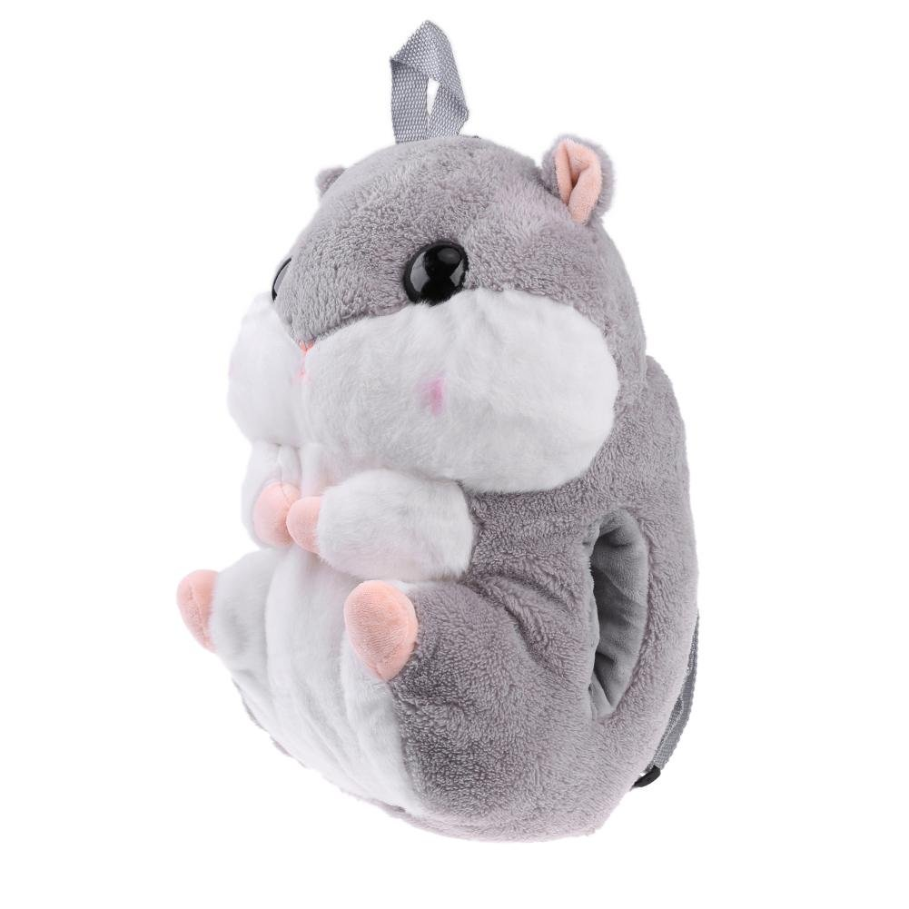 c3eed5261d4f Zibuyu Cute Hamster Doll Backpack Plush Kids Baby Toy School Bag Girl  Gift(Grey)  Amazon.in  Bags