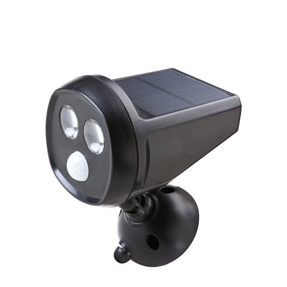 Mabor Foco LED Solar para Exterior, Luz LED de Jardín, Lámpara Giratoria 360 Grados, Sensor de Movimiento, Luz de Noche Regulable Automática, 180 Lúmenes, ...