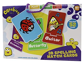 Cbeebies 3D Spell Match Cards Gift Set