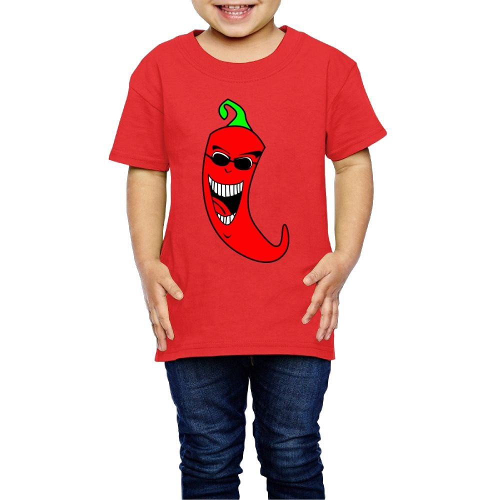 Moniery Short-Sleeves T Shirt Cool Sunglasses Peppers Cotton Birthday Day Girl Boy Kids