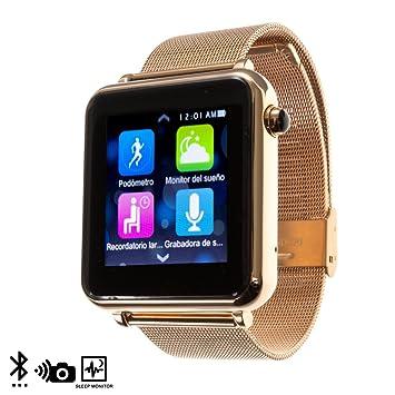 DAM - Sw L1+ Smartwatch Rose. Compatible con teléfonos Android e iOS. Correa de 18cm con broche regulable de 10 posiciones. agenda de teléfono, dial ...