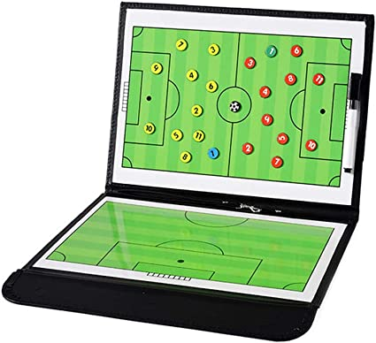 Football Magnetic C-oaching Clipboard Board Tactics Strategy Training Aids N3Z2