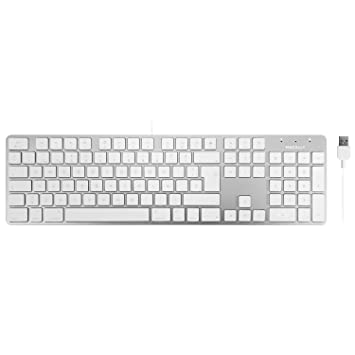 Macally SLIMKEYPROA-ES, Teclado USB-A para Mac y PC, Layout español