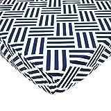 American Baby Company Sábana de percal para cuna Parqué azul marino