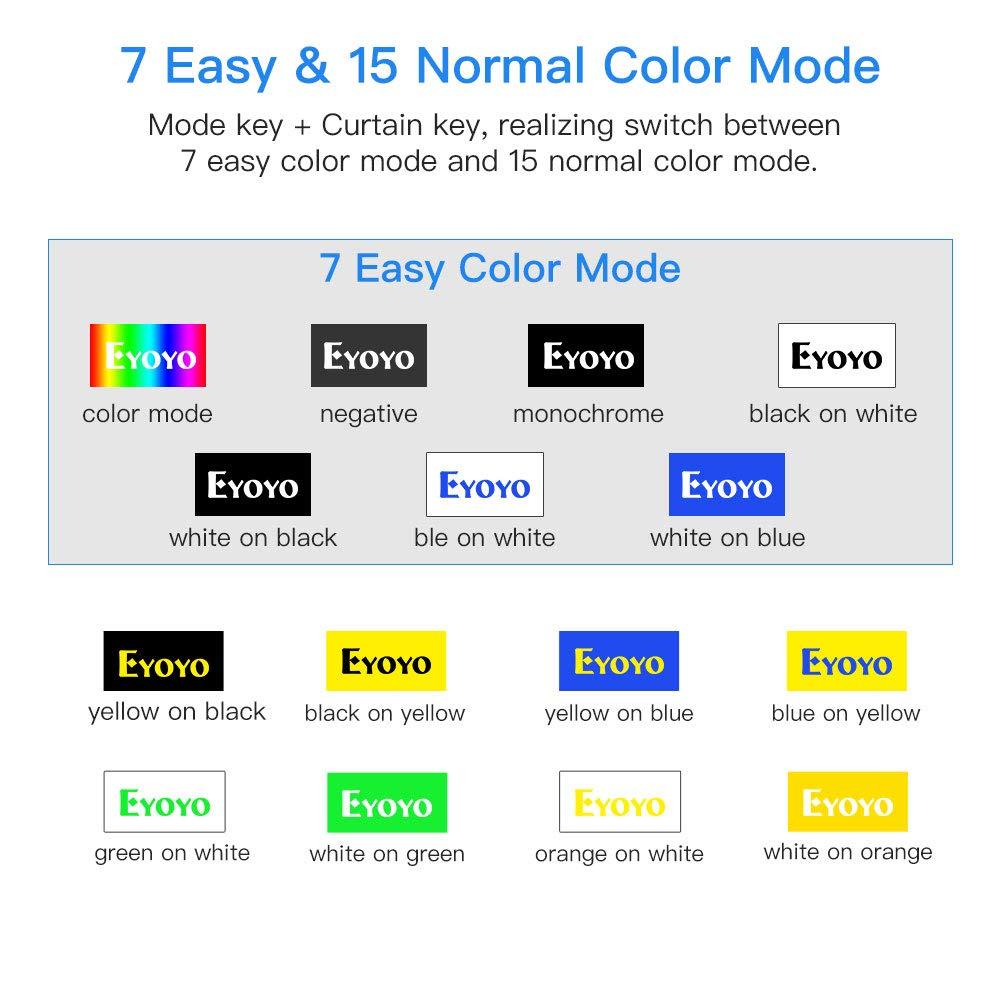 Eyoyo ayuda a la lectura electr/ónica 4-32X doble c/ámara f/ácil de usar Lupa electr/ónica de v/ídeo port/átil de 5,0 pulgadas recordatorio de voz