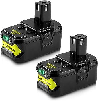 PLUS Lithium High Capacity Battery P104 P122 2X 6.0Ah 18VOLT P108 for RYOBI ONE