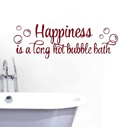 Amazoncom Zigzacs Happiness Is A Hot Bubble Bath Quotes Wall Decal