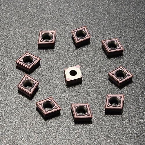 Queenwind 10pcs CCMT060204 LF6018 カーバイドは、回転ツールボーリングバーのためのカーバイドカッターを挿入します
