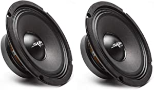 (2) Skar Audio FSX8-4 350-Watt 8-Inch 4 Ohm MID-Range Loudspeakers - 2 Speakers