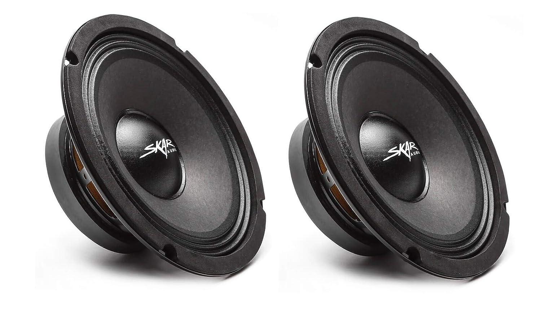 Skar Audio FSX8-4 350-Watt 8-Inch 4 Ohm Mid-Range Loudspeakers 2 2 Speakers