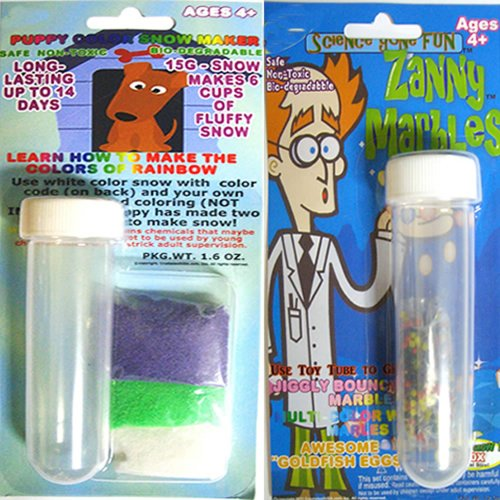 Color Instant Snow and Zanny Marbles (Multi Color) in Test Tube Science Gone Fun.)