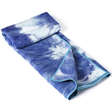 Amazon.com: MATCHANT Tie-dye Yoga Towel Silicone Non-Slip ...