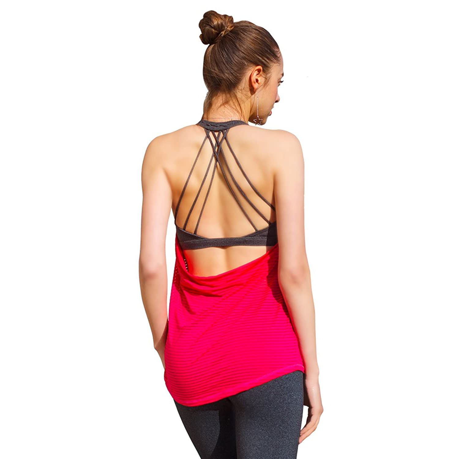 4d3826658d56d1 Top5  ONGASOFT Yoga Tank Top for Womens Activewear Workout Tank Tops with  Built in Bra
