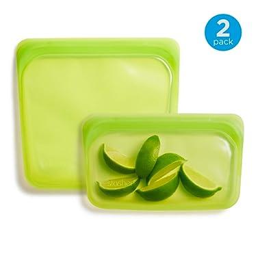 Stasher Reusable Silicone Food Bag, Sandwich Bag and Snack Bag, Storage Bag, Lime Green