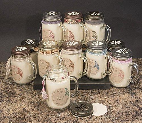 Gift Idea - 16 oz. 100% Soy Candle - LG Mason Jar Mug - CHOOSE SCENT