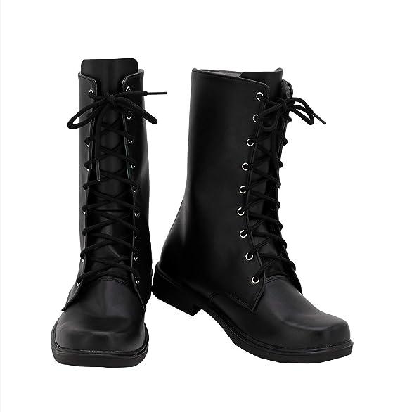 Amazon.com Allten Mens Devil DMC 5 Nero Black Boots Shoes