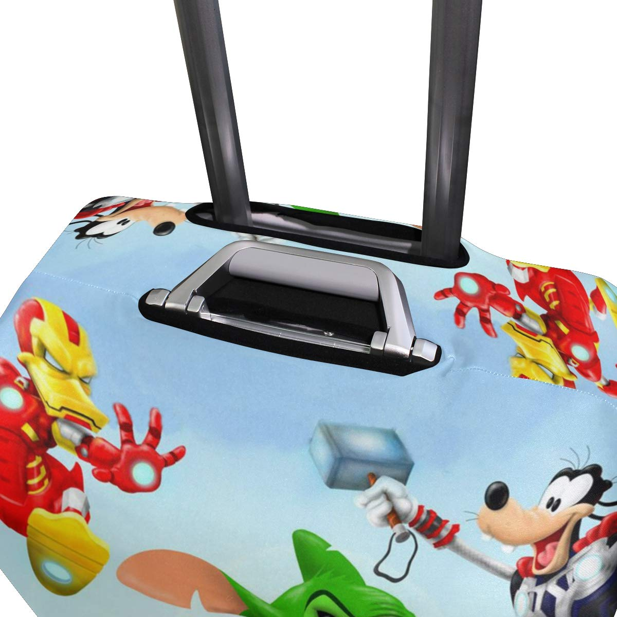 Travel Luggage Cover Super Avengers Captain America Mikey Mouse Stitch Hulk Duck Iron Man Suitcase Protector Fits 26-28 Inch Washable Baggage Covers