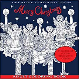 Amazon Com Adult Coloring Books Merry Christmas Adult Coloring