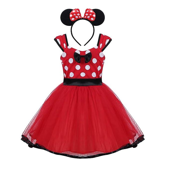 0615a84b9c YOOJIA Vestido de Fiesta para Bebé Niña (6 Meses - 4 Años) Disfraz de  Ratoncita con Tocado Traje Lujoso para Cumpleaños Danza Boda  Amazon.es   Ropa y ...