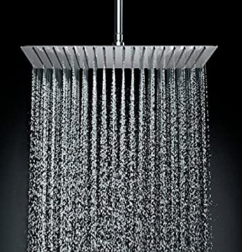 Delta 1stainless Steel 8 Inch Square Rain Shower Head With Touch
