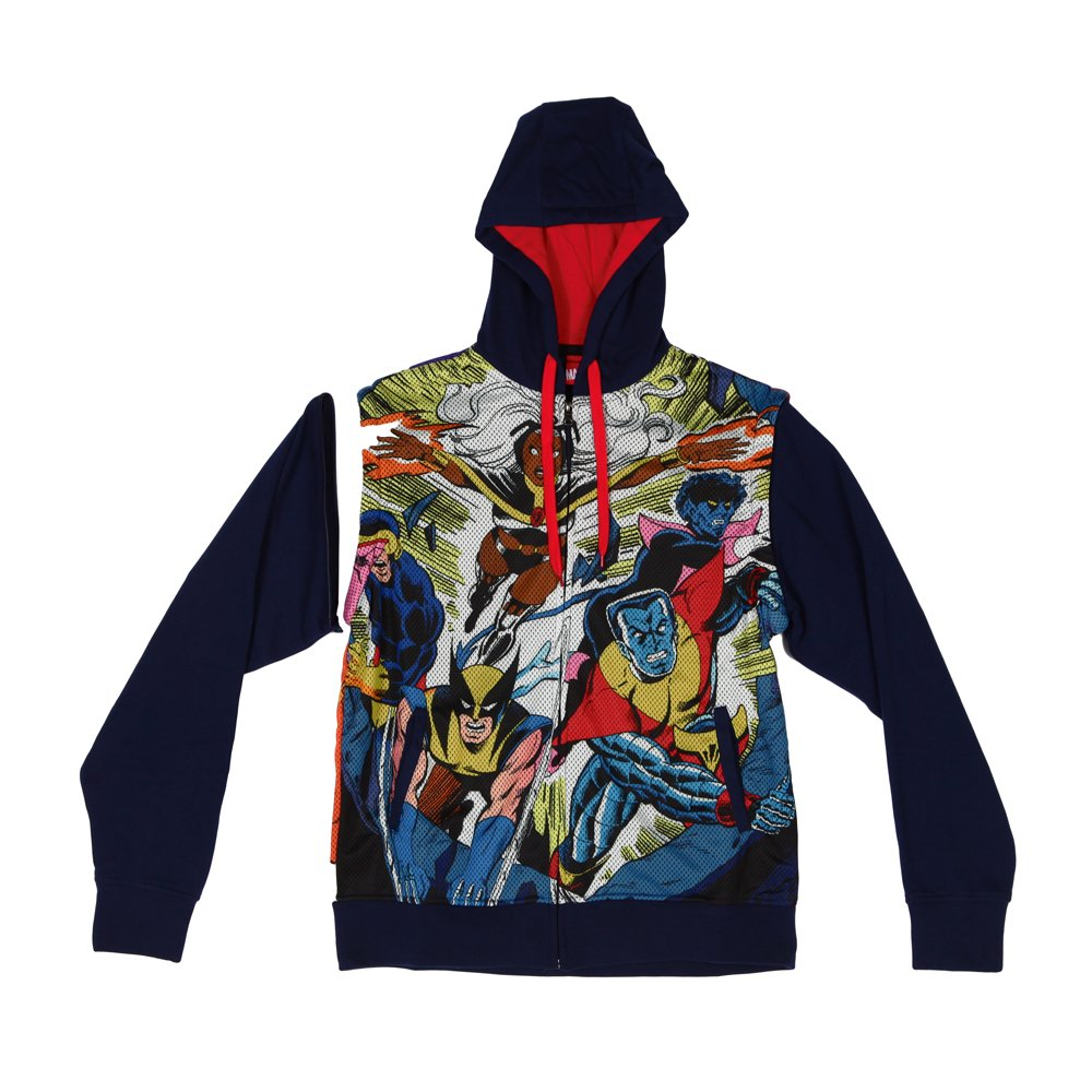 Mad Engine X-Men - Blasted Sublimated Zip Hoodie With Removable Sleeves 89476