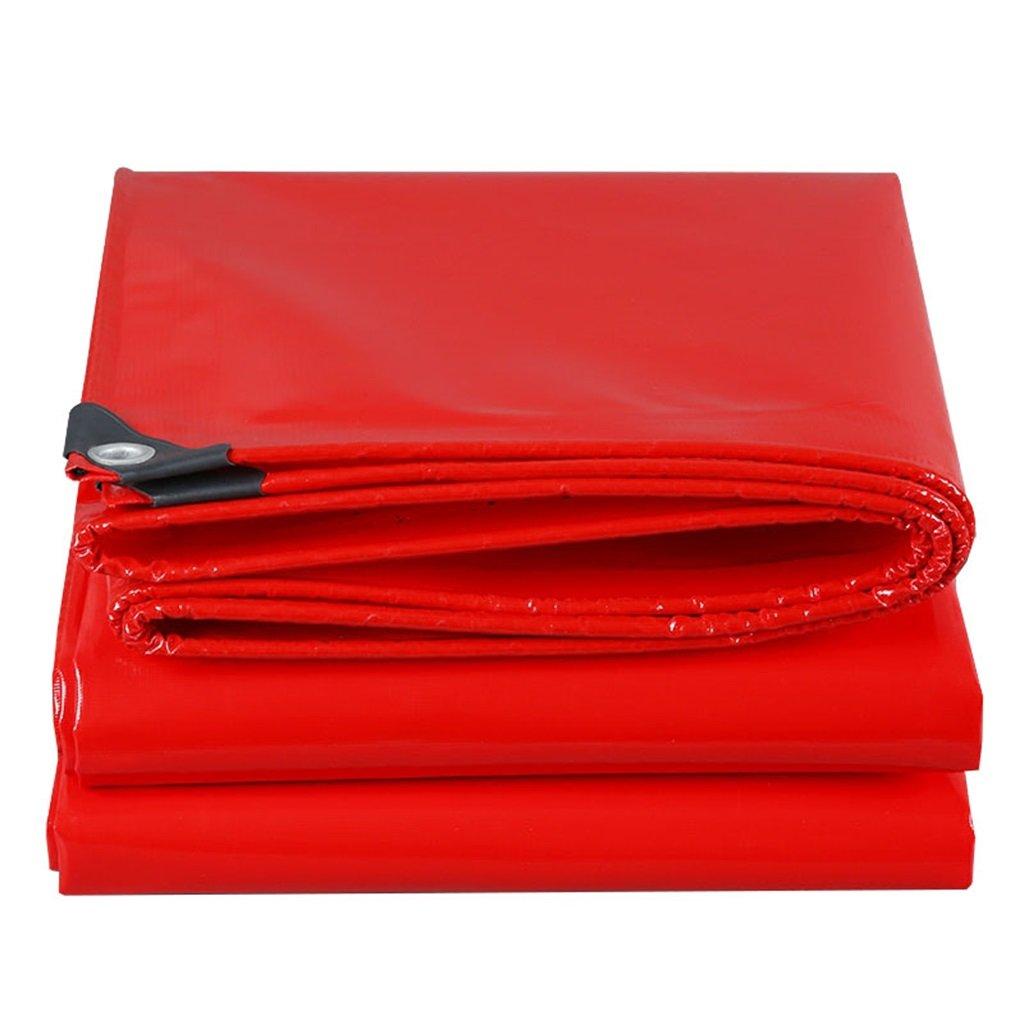 Plane Persenning Rot 100% wasserdicht und UV geschützt Heavy Duty Plane Bodenplane Abdeckungen für Camping, Angeln, Gartenarbeit Abdeckplanen (größe   2MX3M)