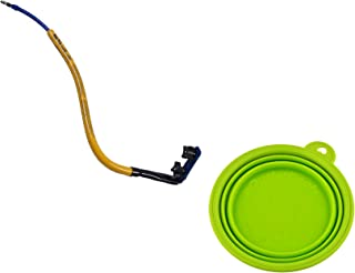 product image for Bike Tow Leash - Stable and Safe Bike Dog Leash - Medium to Large Dogs Bundled with eOutletDeals Collapsible Pet Water/Food Travel Bowl