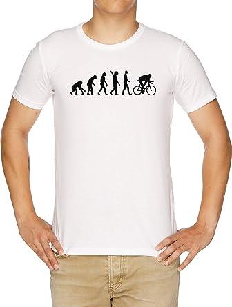 Evolución Ciclismo Bicicleta Camiseta Hombre Blanco: Amazon.es ...