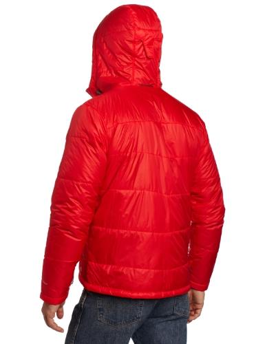 Chaqueta con capucha para hombre Shimmer Me Timbers II, rojo brillante, medio