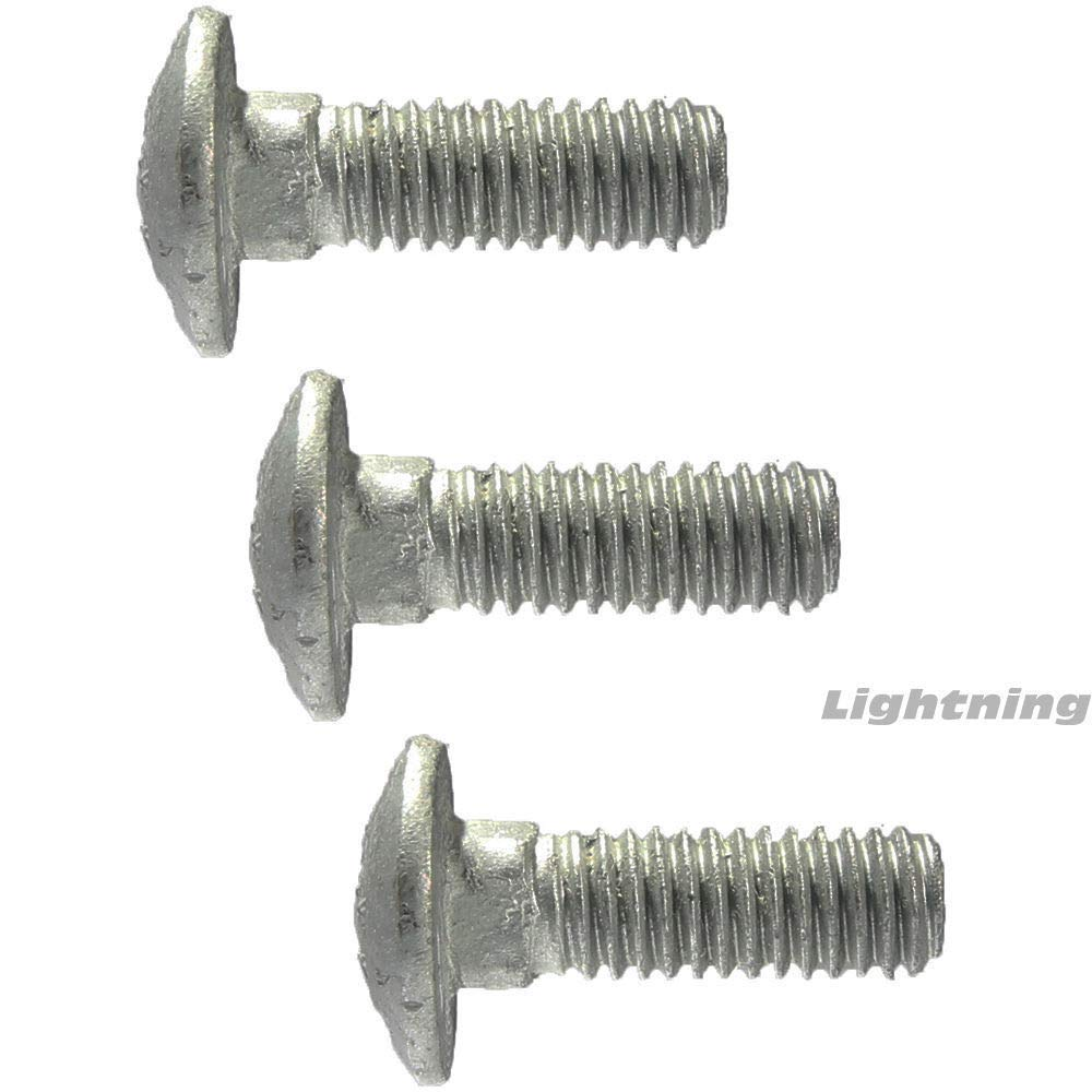 3//8-16 x 1-1//4 Carriage Bolts and Nuts Hot Dip Galvanized Quantity 25