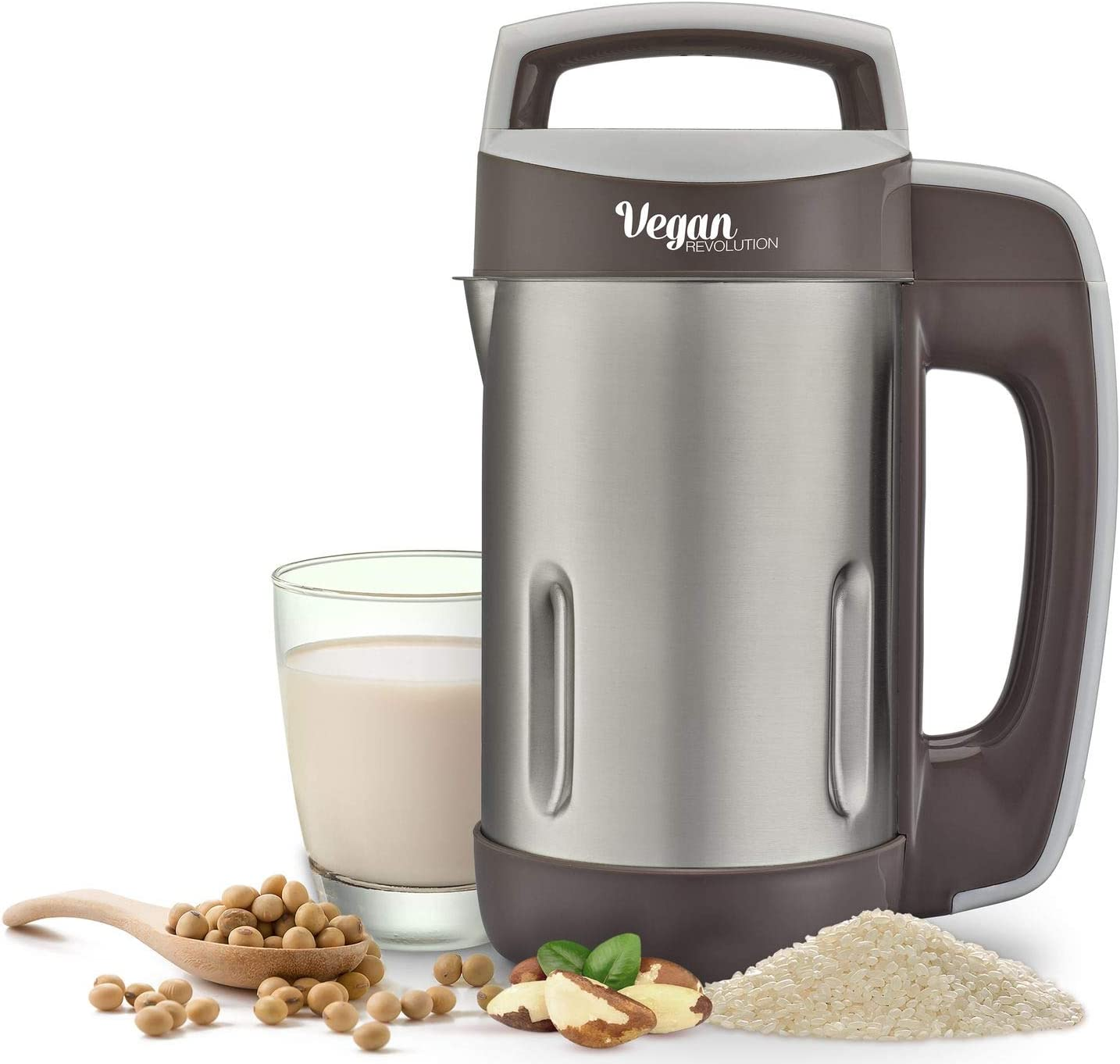Vegan Milk Machine- Vegan Revolution make milk from grains seeds or nuts almonds soybean coconuts rice easy to use stainless steel blade