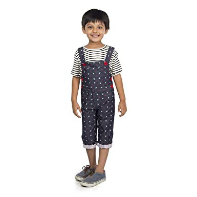 632b616d6 Olele® Printed Dungaree and Jumpsuit for Boys