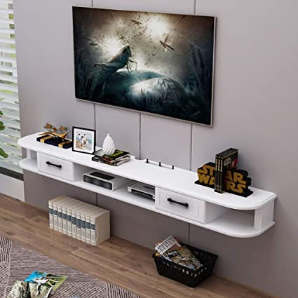 Amazon.com: Wall-Mounted TV Cabinet TV Shelf with Drawer ...