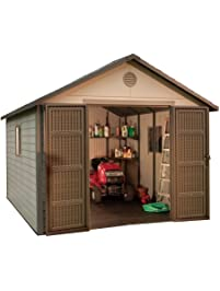 Lifetime 6433 Outdoor Storage Shed With Windows.