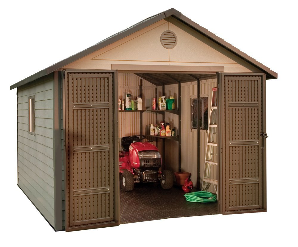Amazon.com : Lifetime 6433 Outdoor Storage Shed With Windows, 11 By 11 Feet  : Garden U0026 Outdoor