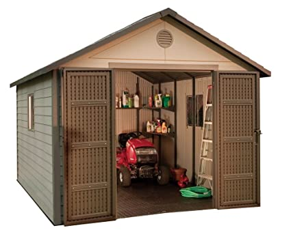 Merveilleux Lifetime 6433 Outdoor Storage Shed With Windows, 11 By 11 Feet