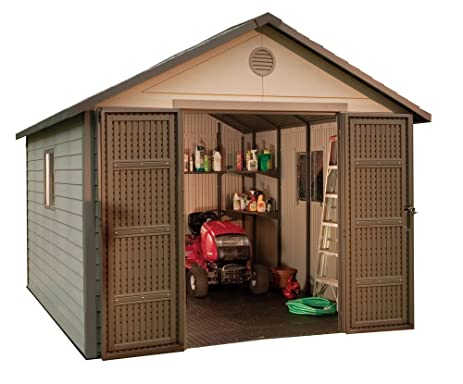lifetime 6433 outdoor storage shed with windows 11 by 11 feet