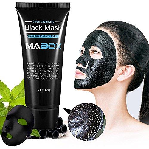 Blackhead Remover Mask,Blackhead Peel Off Mask Black Mud Face Mask Blackhead Cleansing Mask Cleaner Face Mask-Deep Clean Blackhead Blackhead Killer Facial Masks 50ml-Aolvo