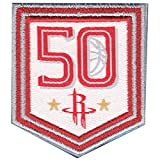 2017 NBA Houston Rockets 50th Anniversary Official Small Jersey Patch